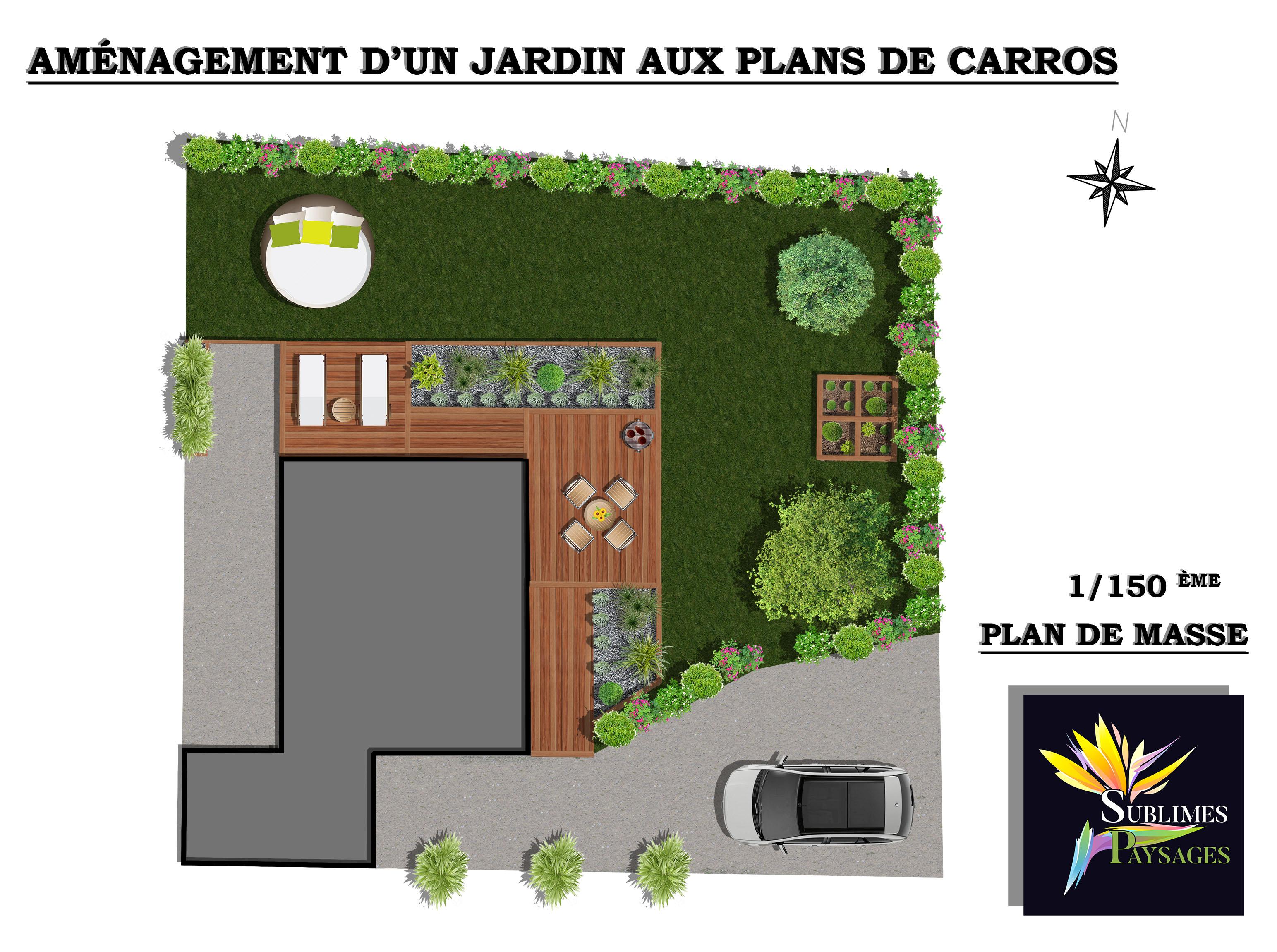 Aménagement d'un jardin méditerranéen aux plans de Carros (06510)